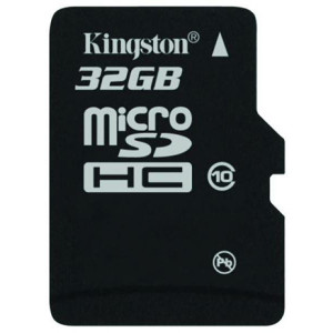Kingston, 32GB, Class 10, microSDHC Card