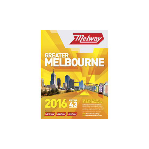 MELWAY STREET DIRECTORY Greater Melbourne: Edition 16: 1986 Hardcover