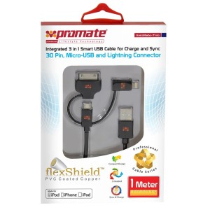 linkMate-Trio, Integrated, 3 in 1, USB Cable