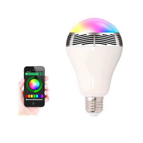 Bsr led bulb with bluetooth and built in speaker while for Led light bulb with built in bluetooth speaker