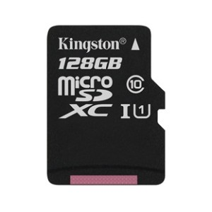 Kingston 128GB, Class 10, microSDHC Card