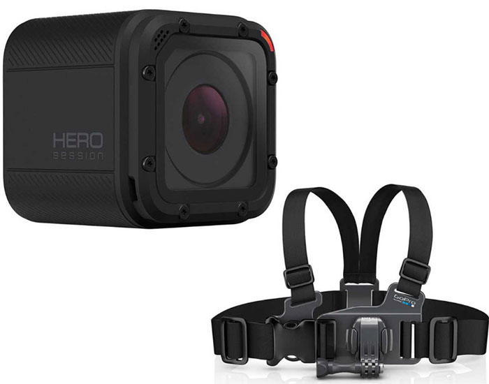 GoPro, HERO Session, Waterproof, Camera, Bonus, Junior, Chest Strap