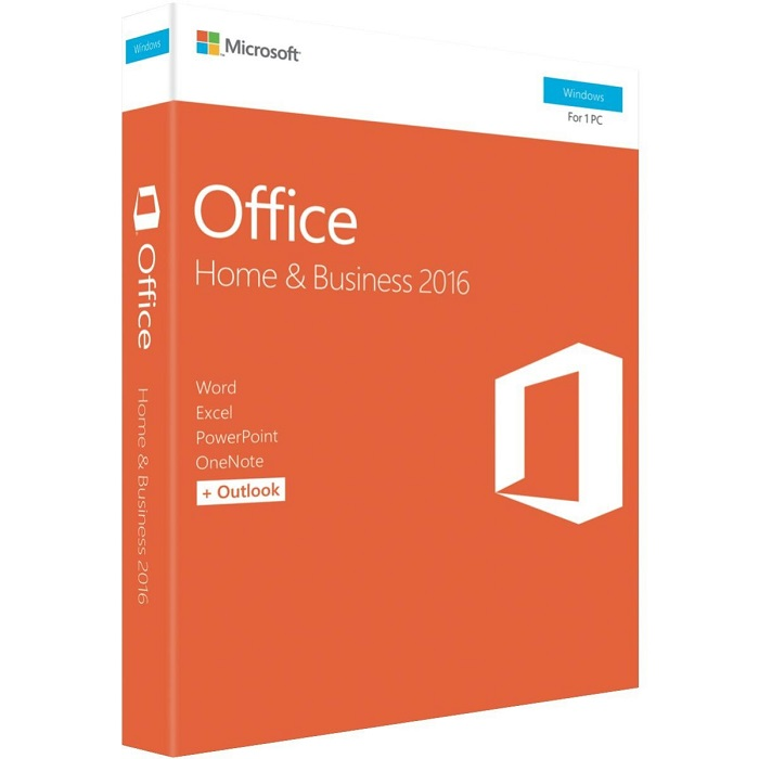 Microsoft, Office 2016, Home & Business, 1 User, Medialess, Retail