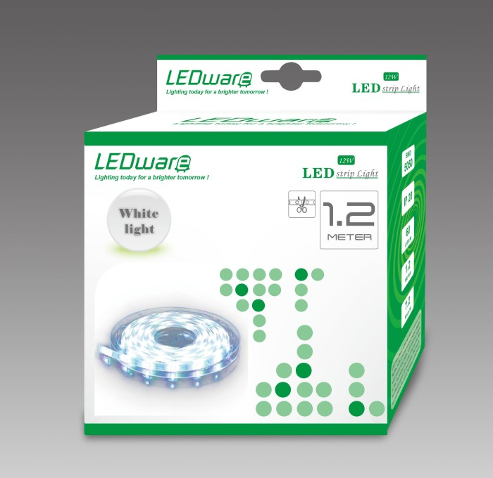 LEDware LED Flex Ribbon Strip Kit 12V 1.2m