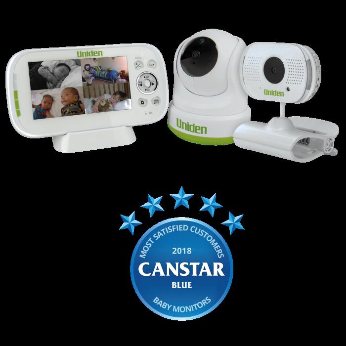 "Uniden, BW 3451R + 1, 4.3"" Digital Wireless, Baby Video Monitor"