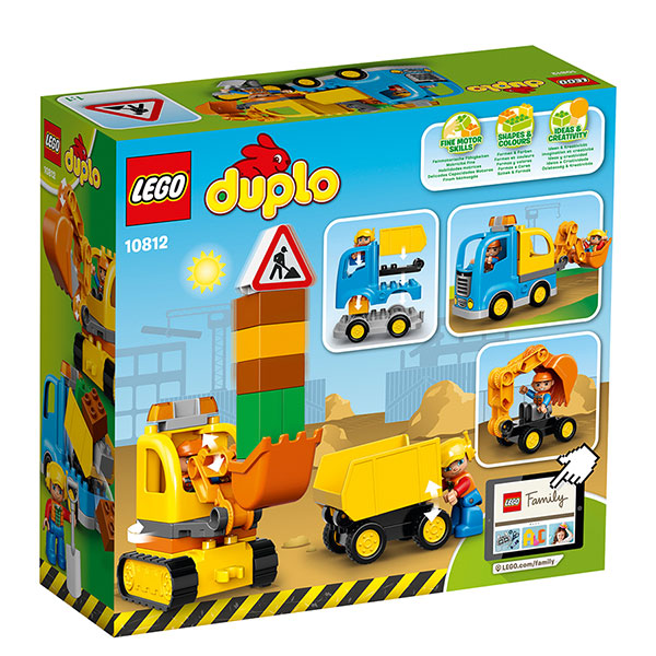 LEGO, Duplo, Truck, Tracked Excavator