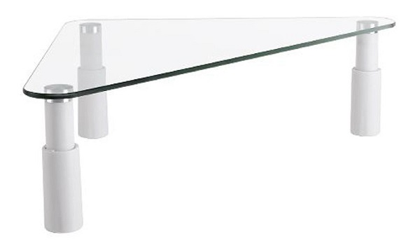 Brateck, Universal, Tempered Glass, Corner Tabletop, Monitor Rise