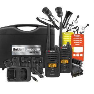 Uniden, UH820S-2TP, 80 Channels, 2 Watt, UHF, Handheld Tradies, Pack